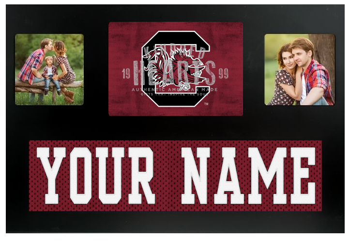 South Carolina Gamecocks NCAA Jersey Nameplate Custom Picture Frame