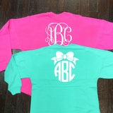 Monogrammed Spirit Jersey Shirt - Campus Connection - Campus Connection - 1