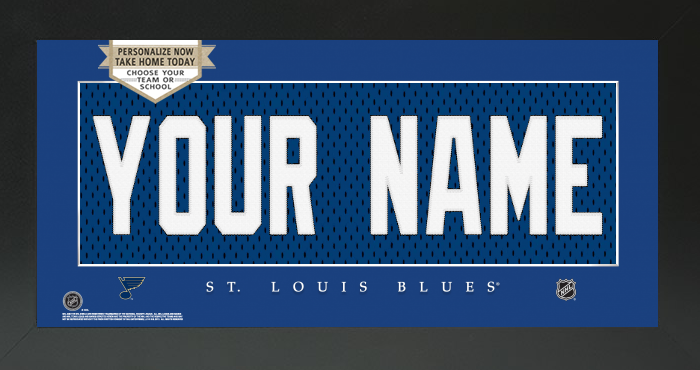 St. Louis Blues Jersey NHL Nameplate Custom Framed Sign
