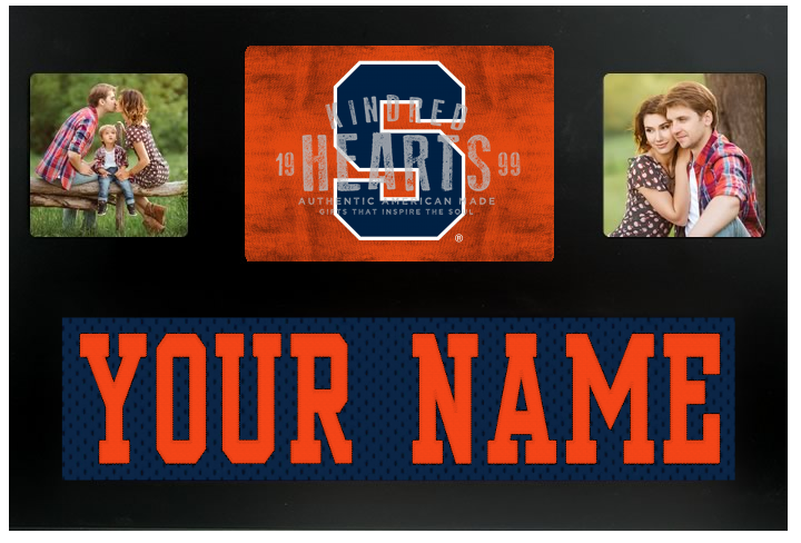 Syracuse Orange NCAA Jersey Nameplate Custom Picture Frame