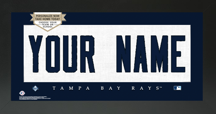 Tampa Bay Rays MLB Jersey Nameplate Custom Framed Sign
