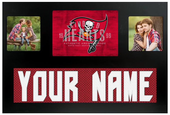 Tampa Bay Buccaneers NFL Jersey Nameplate Custom Picture Frame