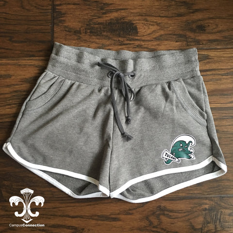 Tulane Angry Wave French Terry Track Shorts