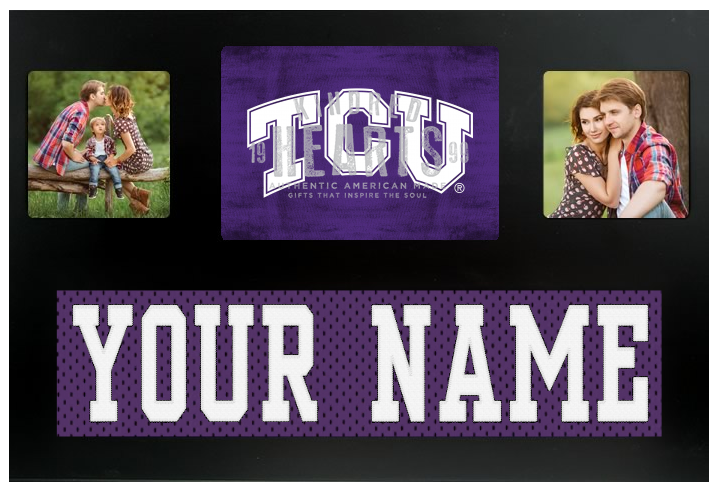 TCU Horned Frogs NCAA Jersey Nameplate Custom Picture Frame
