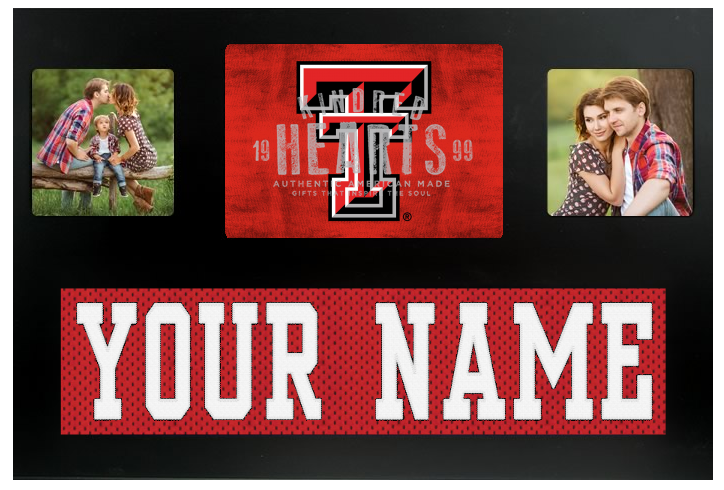 Texas Tech Red Raiders NCAA Jersey Nameplate Custom Picture Frame ...