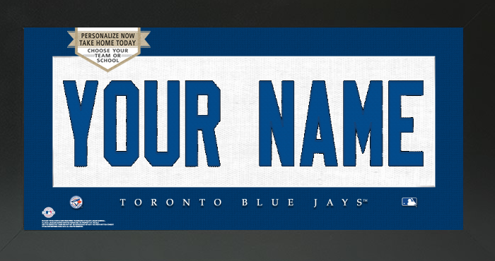 Toronto Blue Jays MLB Jersey Nameplate Custom Framed Sign