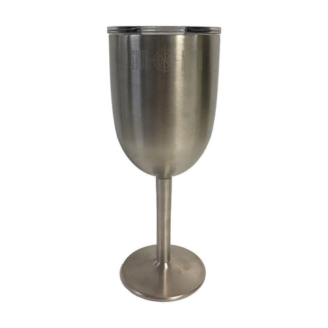 True North 10 oz. Stainless Steel Wine Glass