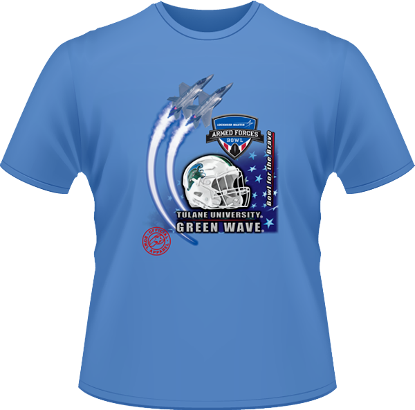 Armed Forces Official Tulane Bowl Shirt - Blue