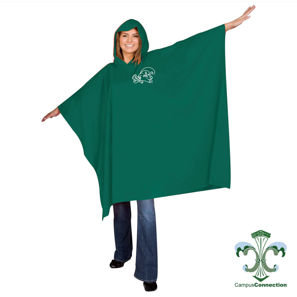 Tulane Hooded Rain Poncho