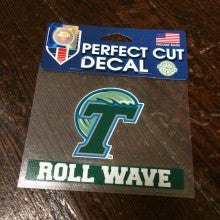 Tulane Roll Wave Decal - Wincraft - Campus Connection