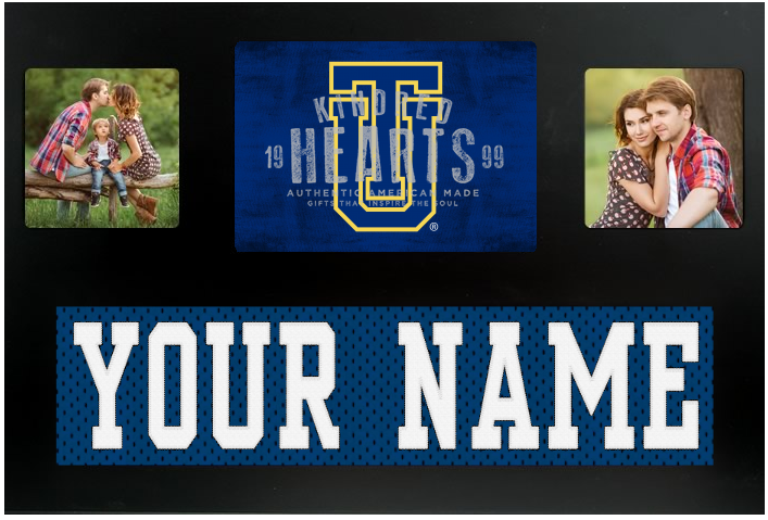 Tulsa Golden Hurricanes NCAA Jersey Nameplate Custom Picture Frame