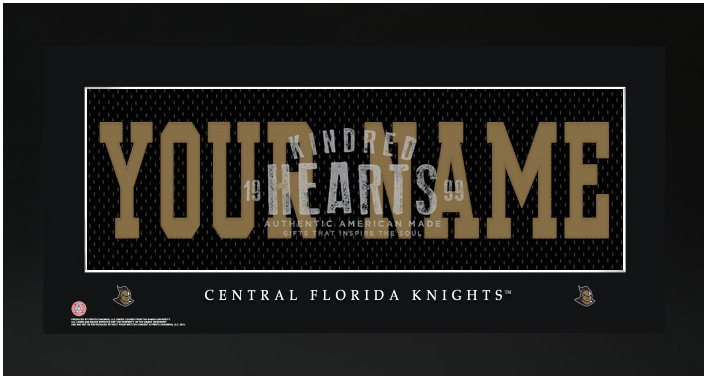 UCF Knights NCAA Jersey Nameplate Custom Framed Sign
