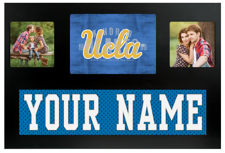 UCLA Bruins NCAA Jersey Nameplate Custom Picture Frame