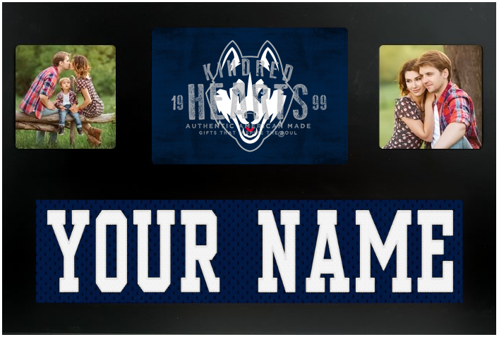 UCONN Huskies NCAA Jersey Nameplate Custom Picture Frame