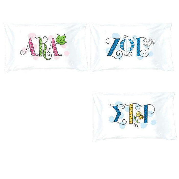 Divine 9 Sorority Pillowcase - Alexandra and Co. - Campus Connection - 1