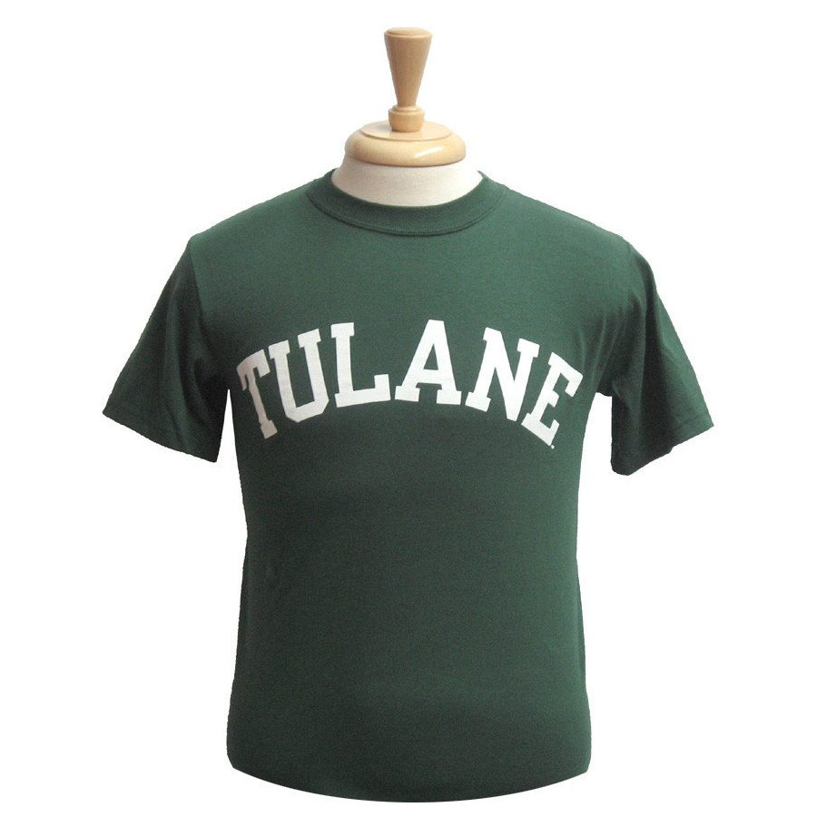 Basic Tulane T-Shirt Green - Champion - Campus Connection