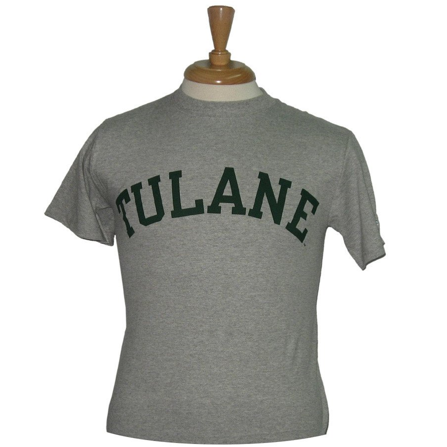 Basic Tulane T-Shirt Gray - Champion - Campus Connection