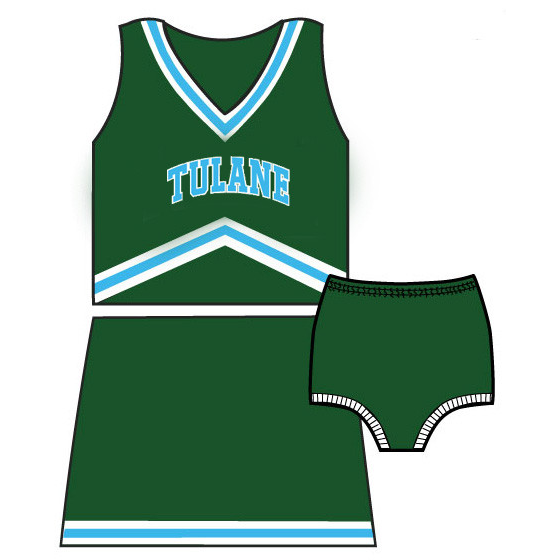 Tulane Cheerleader Outfit - Third Street - Campus Connection - 2