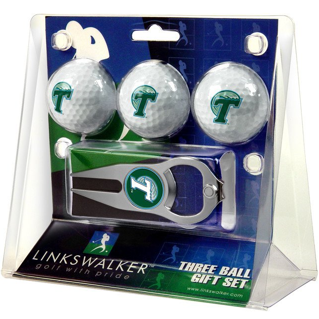 Tulane Golf Ball Gift Set - Links Walker - Campus Connection