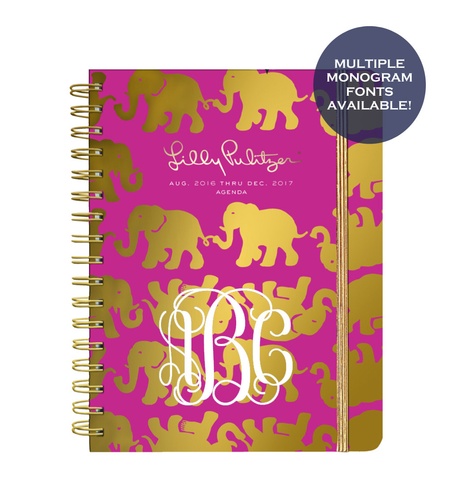 Lilly Pulitzer Large 2016-2017 Agenda - Tusk in Sun