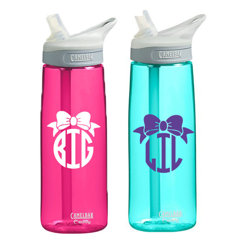 Big or Little Bow Monogram Camelbak Water Bottle