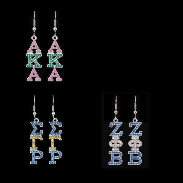 Rhinestone Earrings - National Sportswear - Campus Connection - 1