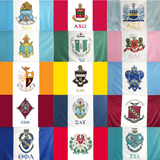 Sorority Crest Flag - King Greek - Campus Connection - 1