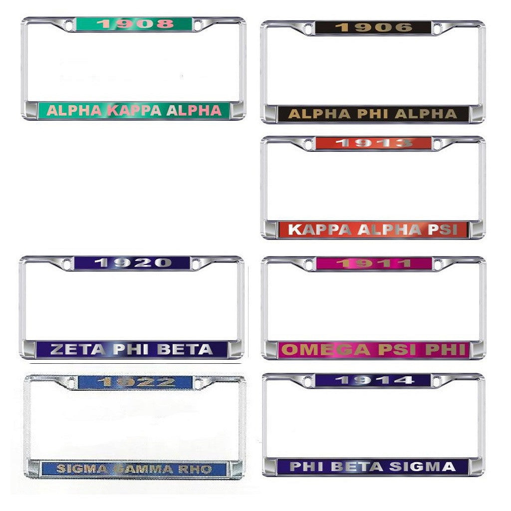 Divine 9 Sorority Fraternity License Plate Frame Year – Campus ...