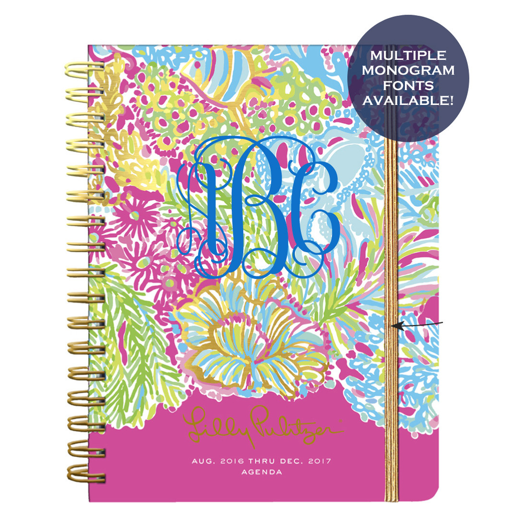 Lilly Pulitzer Large 2016-2017 Agenda - Lover's Coral - Lilly Pulitzer - Campus Connection - 1