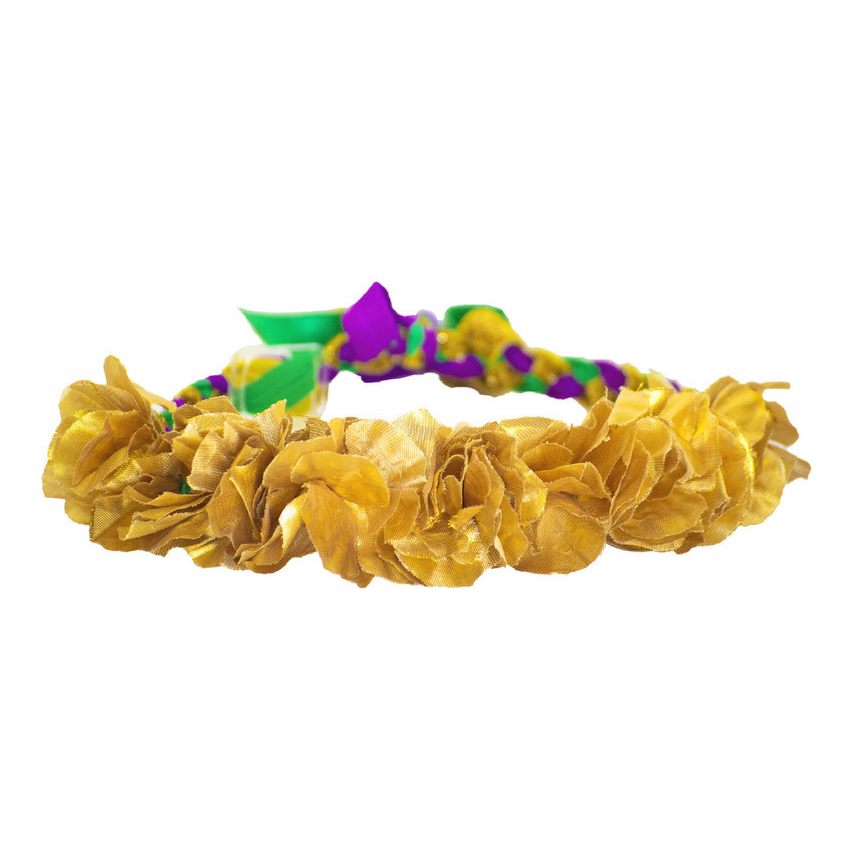 Mardi Gras Gold Lei Flower Headband - Haybands - Campus Connection