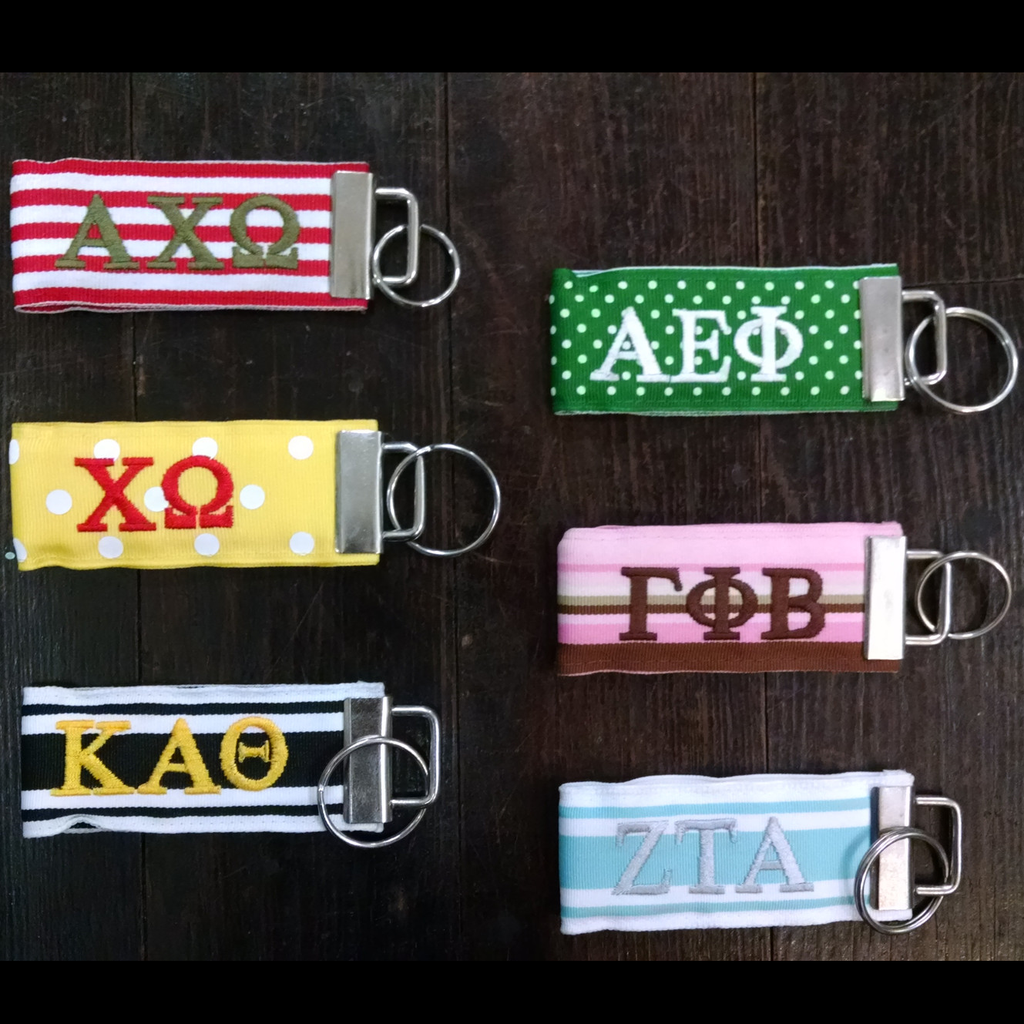 Sorority Ribbon Keychain - Miller Ribbon - Campus Connection