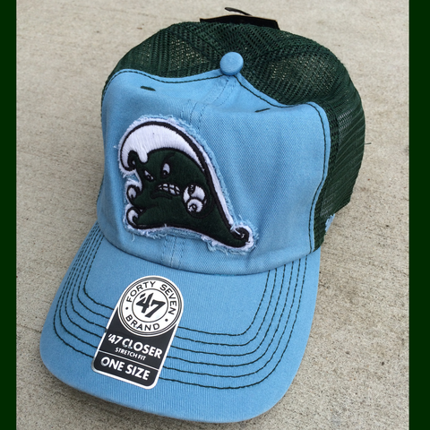 Tulane Angry Wave Mesh Trucker Hat