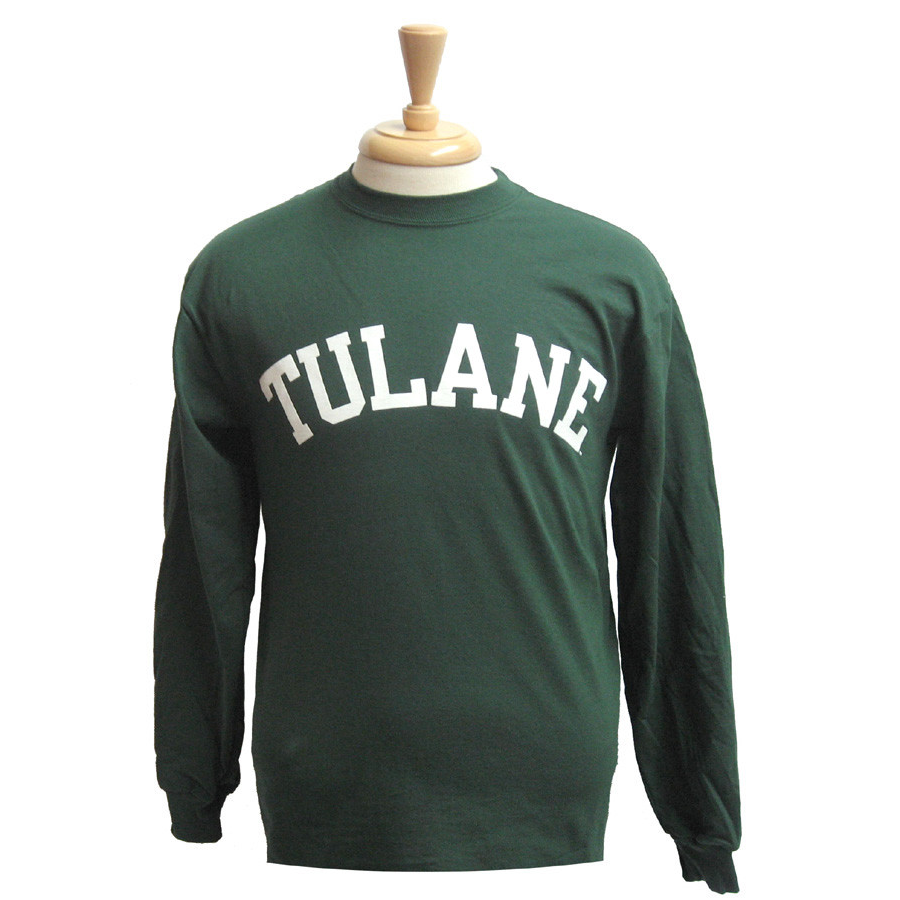 Basic Tulane Long Sleeve T-Shirt Green - Champion - Campus Connection