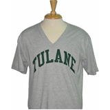Tulane American Apparel V-Neck Gray - Campus Connection - Campus Connection