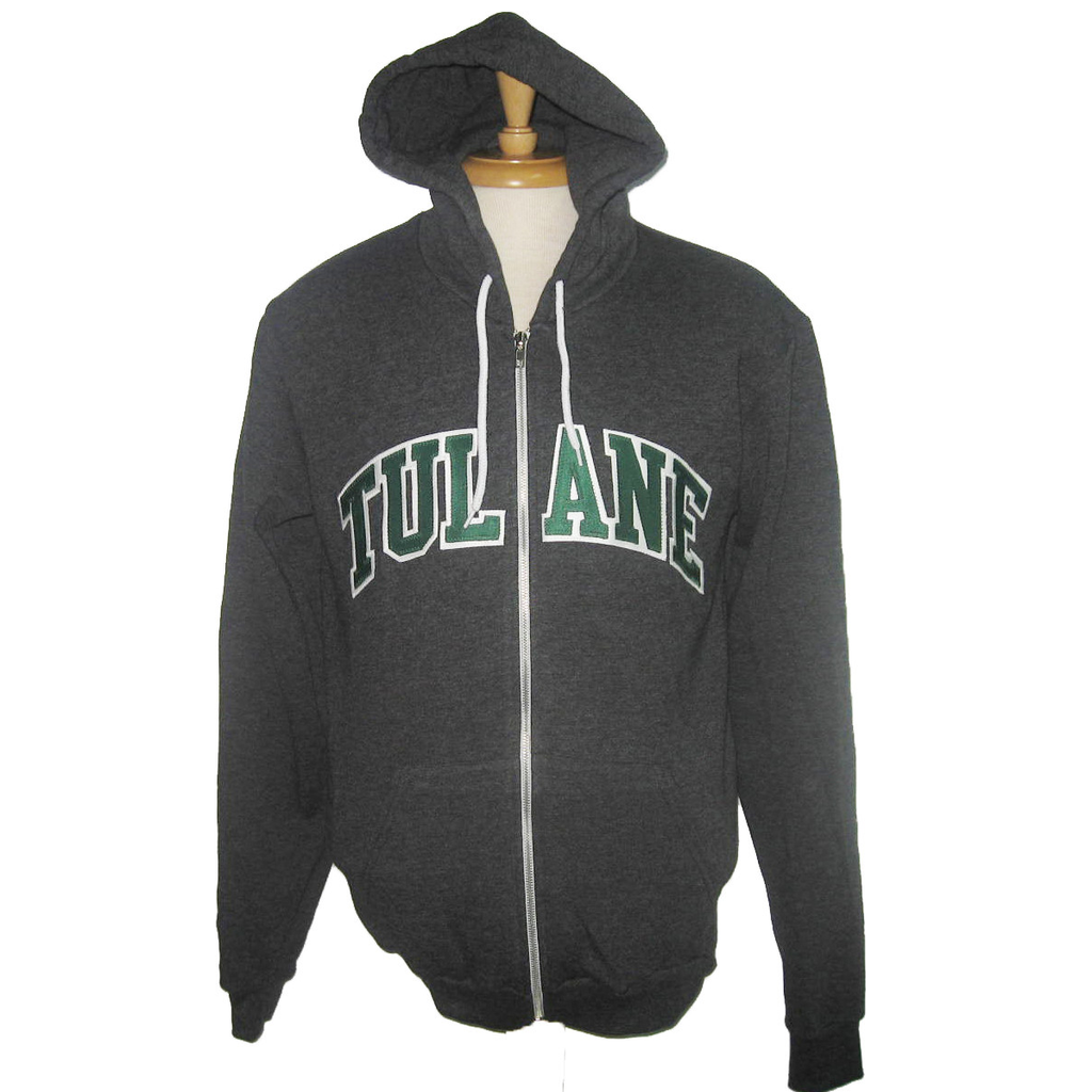 Tulane American Apparel Full Zip Sweatshirt - Campus Connection - Campus Connection