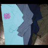 Monogrammed Comfort Colors Long Sleeve - Campus Connection - Campus Connection - 2