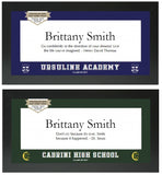 High School Class of 2017 Graduation Personalized Framed Sign