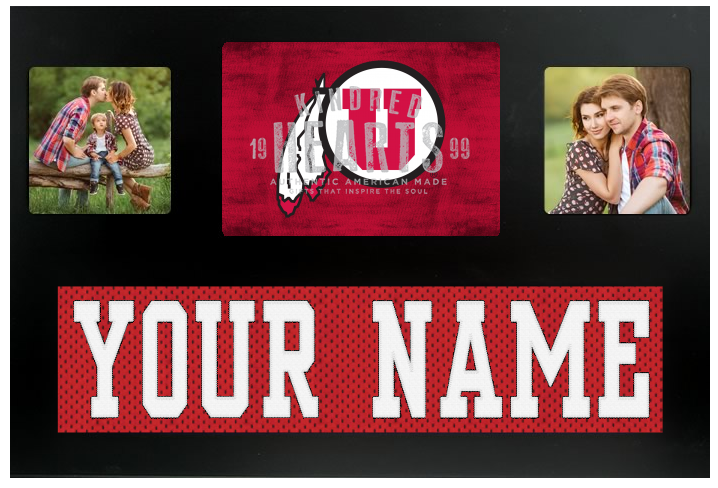 Utah Utes NCAA Jersey Nameplate Custom Picture Frame