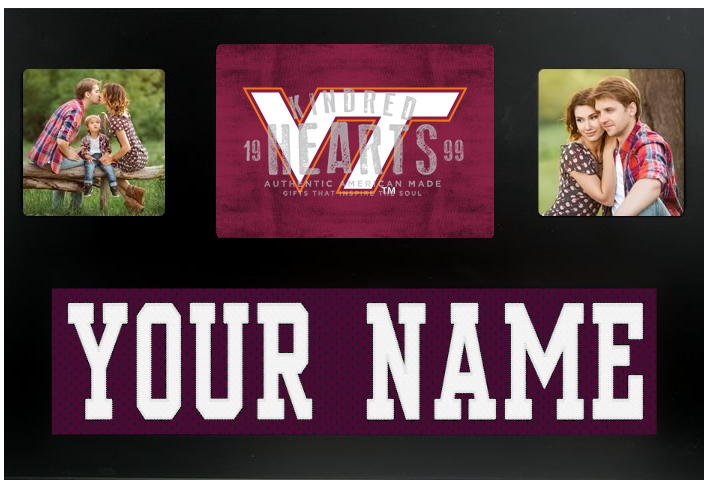 Virginia Tech Hokies NCAA Jersey Nameplate Custom Picture Frame