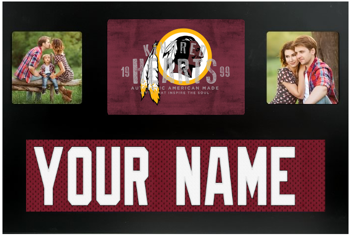 Washington Redskins NFL Jersey Nameplate Custom Picture Frame