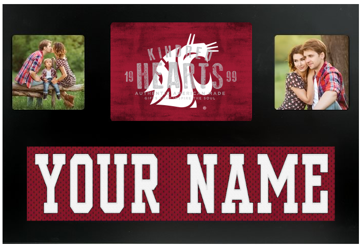 Washington State Cougars NCAA Jersey Nameplate Custom Picture Frame