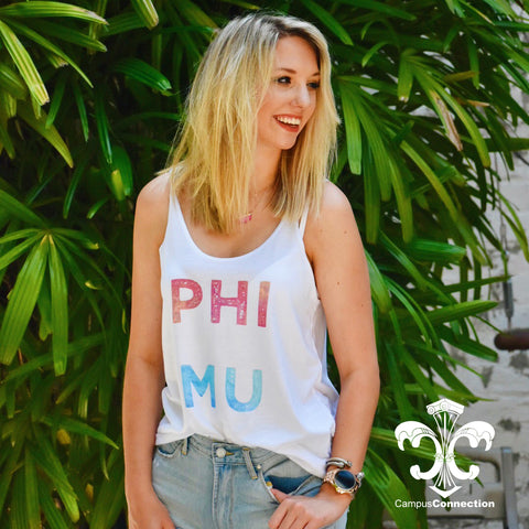 Sorority Watercolor Bella Slouchy Tank