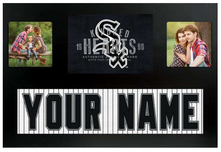 Chicago White Sox MLB Jersey Nameplate Custom Picture Frame