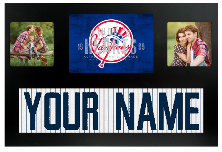 New York Yankees Mlb Jersey Nameplate Custom Picture Frame Campus