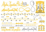 Sorority Metallic Flash Temporary Tattoo Sheets - A-List - Campus Connection - 6