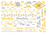 Sorority Metallic Flash Temporary Tattoo Sheets - A-List - Campus Connection - 11