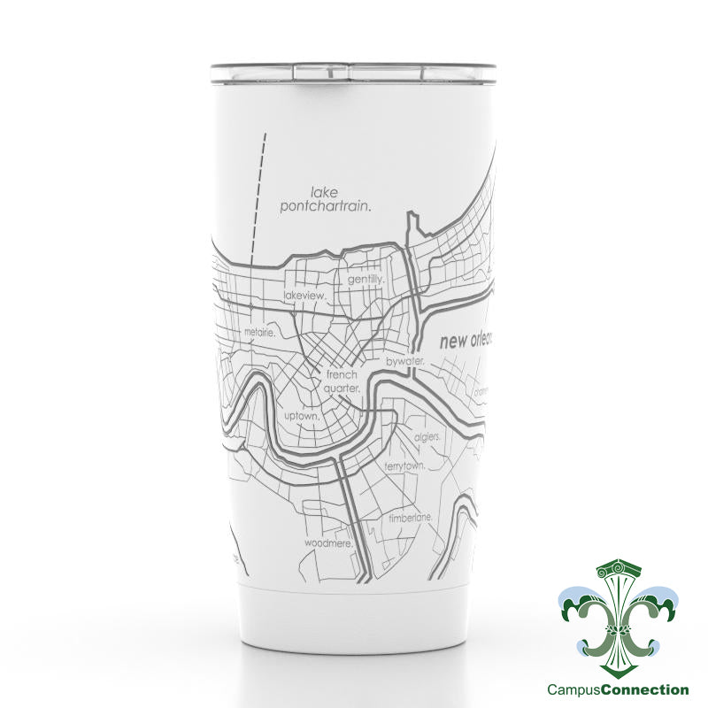 New Orleans Map 20 oz. Insulated Pint Tumbler