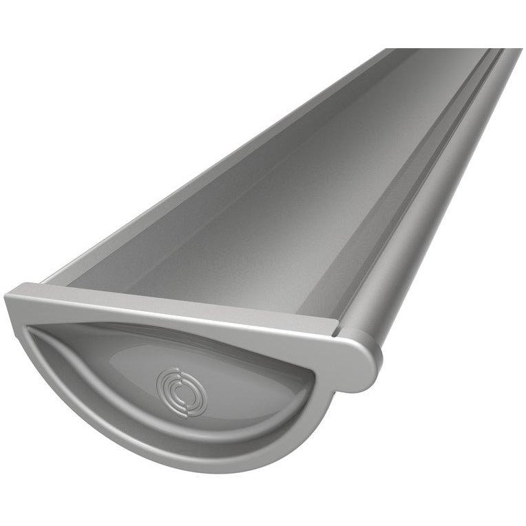 Lindab Majestic Galvanised Steel Left Hand Stop End for 190mm