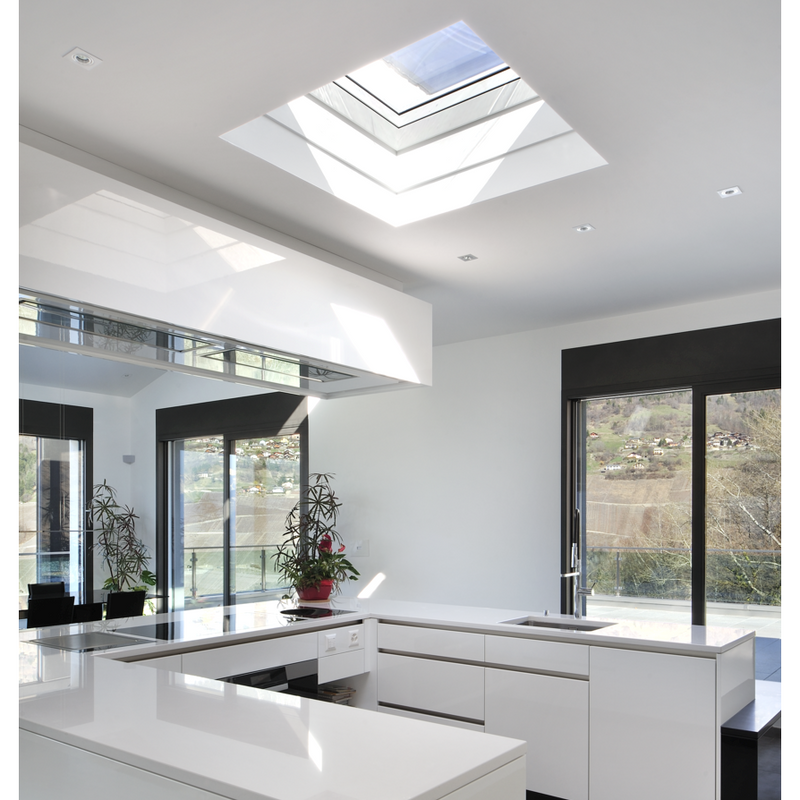 VELUX CVP 060060 S06G INTEGRA® Electric Opening Clear Flat Roof Window (60 x 60 cm)