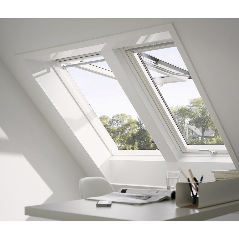 VELUX GPL FK06 2066 Triple Glazed White Painted Top-Hung Window (66 x 118 cm)